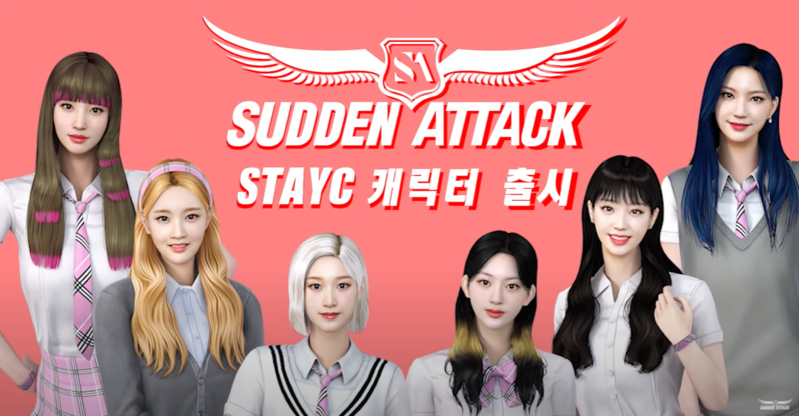 K-pop girl group STAYC transforms as online game characters in 'Sudden Attack'